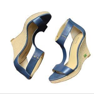 Michael Kors Espadrille Wedge Sandal Blue 7.5